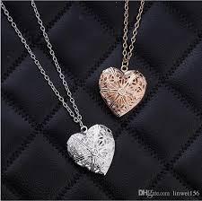 couple heart pendant necklace images Wholesale heart pendant silver rose gold color heart necklace jpg