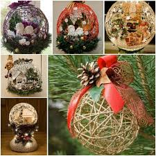 wonderful diy yarn ornaments for