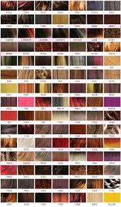 chart hair color swatch chart