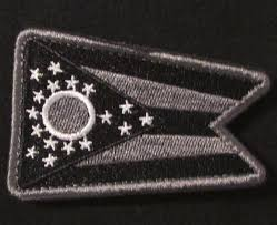 State Flag Velcro Patches Ohio State Flag Usa Army Morale Badge Swat Velcro Brand Fastener