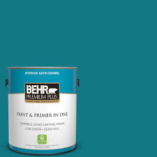 behr premium plus 1 gal p470 7 the real teal satin enamel