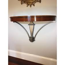 wall mounted console table custom built wall mounted wall console table chairish
