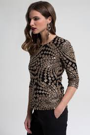 gold square sequin top tops t shirts thermal collection