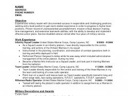 Examples Of Military Resumes by Military Resume Examples Resume Example