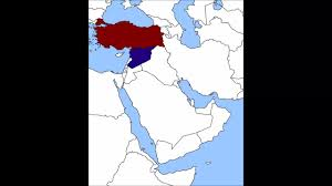 Syria Battle Map by Alternate History Turkish Syrian War Map Youtube