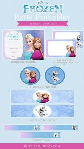free frozen party printables charming