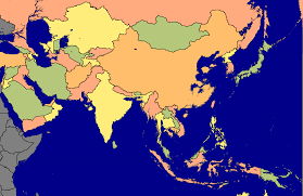 Political Map Asia by Political Map Of Asia If Sea Levels Rose 60m 1380x897 Mapporn