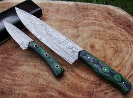Damascus Steel Kitchen Knives Set Of 2 Handmade Damascus Steel Kitchen Knife Chef S Knives