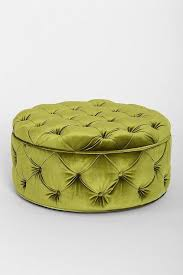 Safavieh Amelia Tufted Storage Ottoman Button Tufted Large Round Velvet Storage Ottoman