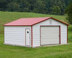 1 Car Garage Steel Building Kit Specials Steel Building Garages