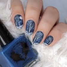 35 pretty winter nail designs nail art trees and colors