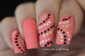 nuthin u0027 but a nail thing coral polka dot nail art