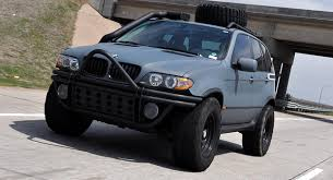 bmw x5 aftermarket accessories wrecked bmw x5 turned into a post apocalyptic spitting beast