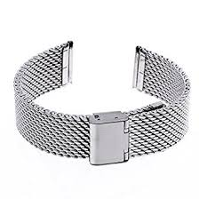 stainless steel bracelet clasp images Ritche 20mm mesh stainless steel bracelet wrist watch band strap jpg