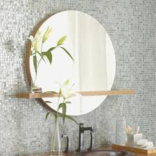 round bathroom mirrors with shelves best bathroom decoration