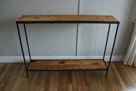 Metal Console Table Blue Lamb Furnishings Reclaimed Wood Metal Console Table Sold