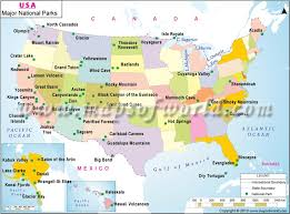 map of us states national parks map usa national parks major tourist attractions maps