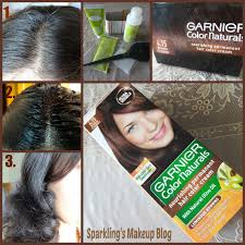 hair dye at home with garnier color naturals brownie chocolate