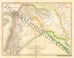 Map Of Syria And Surrounding Countries by Antique Civil War Maps And Charts U2013 Original Vintage Rare