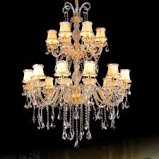 Crystal And Gold Chandelier Aliexpress Com Buy Modern Crystal Fabric Shade Chandelier Luxury