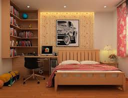 bedroom desks for teenage bedrooms with bookshelving and recessed