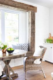 White Breakfast Nook Rustic Beam Breakfast Nook The Lilypad Cottage