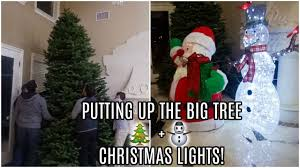 we put up the big tree lights vlogmas day 3