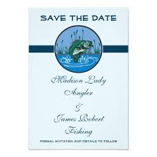 bass fishing sport save the date wedding 3 5 5 paper invitation