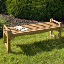 ft teak outdoor backless bench image with awesome backless bench
