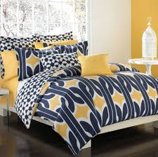 Navy Blue And Gray Bedding Yellow And Navy Bedding Dvf Studio Bedding And Bath Debuts