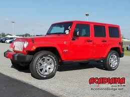 red jeep wrangler unlimited jeep wrangler unlimited in lafayette la acadiana dodge chrysler