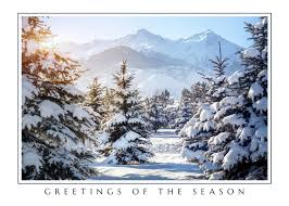 scenic christmas cards winter scene christmas cards