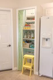 pantry details no sew curtain tiered shelf u0026 step stool jenna
