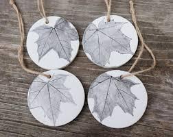 leaf ornament etsy