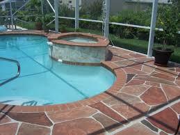 pool deck paint ideas gorgeous decorative concrete pool deck