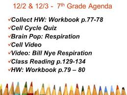 11 18 u0026 11 19 7th grade agenda collect hw reading u0026 note taking