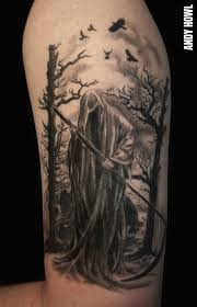 tattoo images of death tattoos by andy howl howl gallery