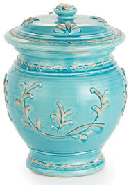 teal kitchen canisters amalfi 11 lidded canister aqua traditional kitchen canisters