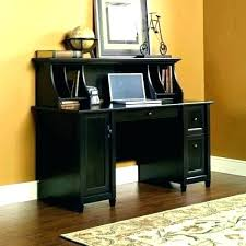 Black Corner Computer Desk With Hutch Black Desk With Hutch Bethebridge Co