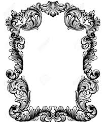 vintage baroque frame decor detailed ornament vector illustration