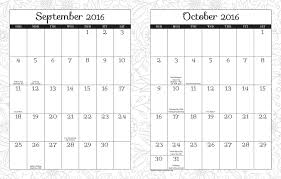 posh coloring 2015 2016 large monthly weekly planning calendar