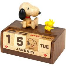 peanuts snoopy wooden block perpetual from a shop 2015