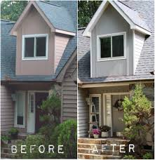paint your front door the same color as your house the mommies