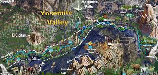Map Of Yosemite Day Hikes To Half Dome From Yosemite Valley Via Vernal Fall Trail