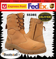 s zip boots oliver s work safety boots shoes steel toe zip high leg au