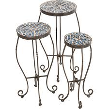 Alfresco Home Outdoor Furniture by Alfresco Home Tremiti Mosaic Plant Stand U0026 Reviews Wayfair