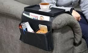 plateau pour canapé 1 ou 2 organisateurs de télécommande et plateau pour canapé