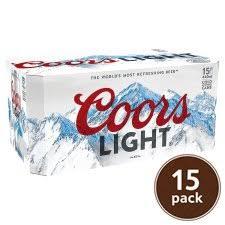 Coors Light 24 Pack Coors Light 20 X 330ml Tesco Groceries