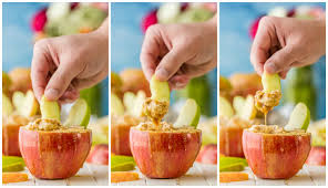 individual caramel cheesecake apple dip the cookie rookie
