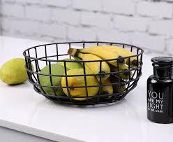 metal fruit basket minimalist modern design metal steel fruit basket storage rack